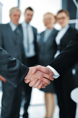 handshake-isolated-business-background